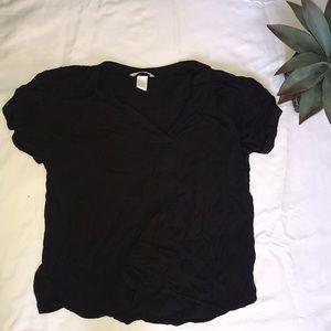 Flowy dark grey blouse